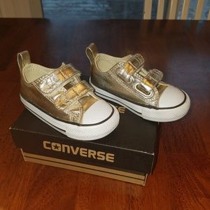 Converse Gold sneakers Infant size 5